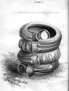 Curious Bronze Relic found near the Estuary of the River Findhorn engraving by William Miller after Sir Thos Dick Lauder