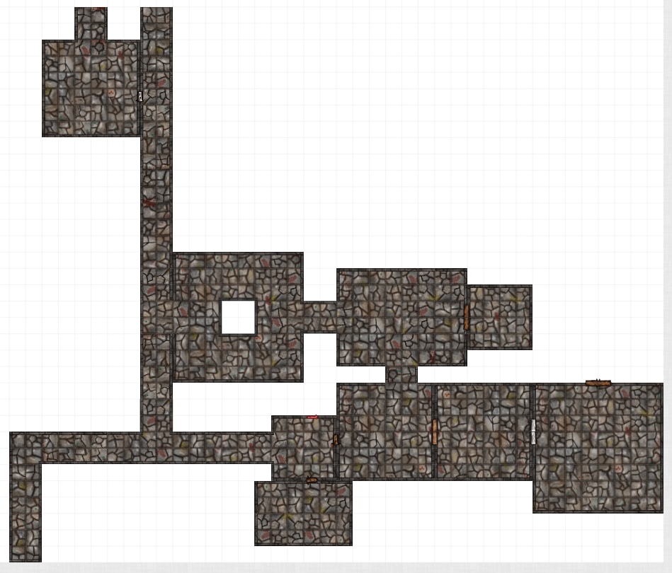 Basic randomly generated dungeon using Appendix A