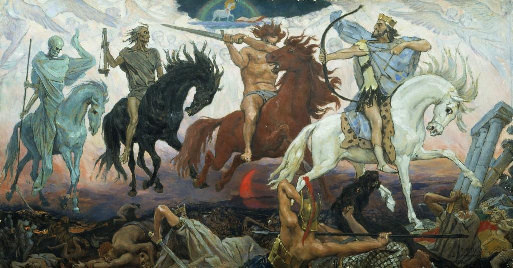 The Four Horsemen of the Apocalypse from the Book of Revelation.
