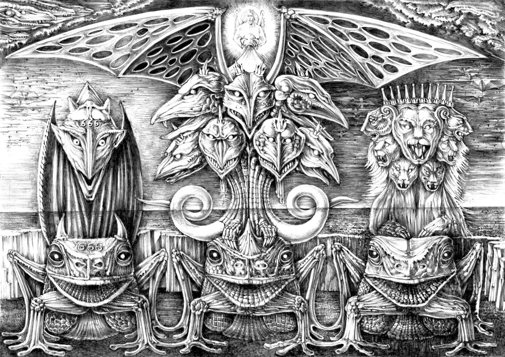 A representation of the beasts of Revelation. Used under Creative Commons license.