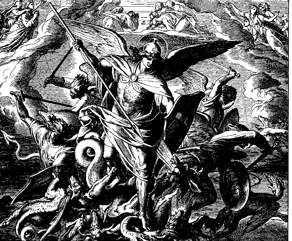The Archangel Michael during the War in Heaven.